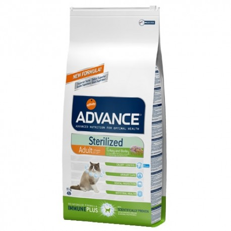 Advance Sterilized Turkey pienso gato