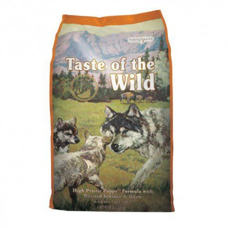 Taste of the wild puppy high prairie de bisonte y venado