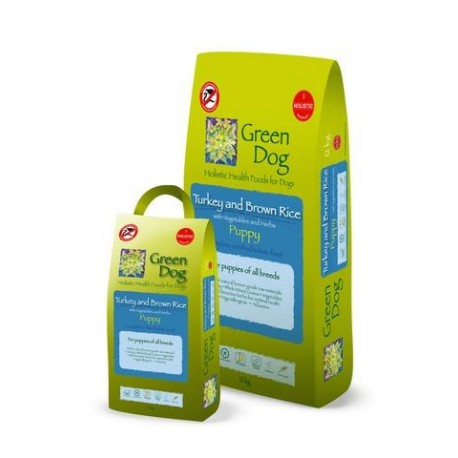 Pienso holístico Green Dog Food de pavo para cachorros
