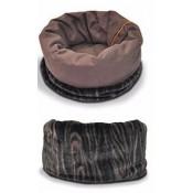 Cama envolvente para perros color marrón