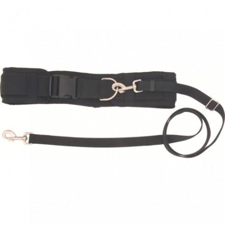 Cinturón de corredor canicross Deluxe en color negro