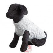 Jersey de punto new basic para perros en color gris