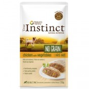True Instinct No Grain Mini Paté de pollo y verduras para perros
